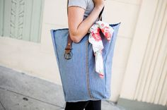How to Upcycle Your Jeans into Pillows and Bags | Brit + Co