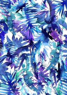 Vibe of the jungle blueby schatzibrown flower iphone wallpaper, watercolor wallpaper iphone, glam wallpaper Flower Iphone Wallpaper, Cool Wallpaper, Wallpaper Backgrounds, Watercolor Wallpaper, Acrylic Box, Textile Prints, Abstract Pattern, Cute Wallpapers, Deco