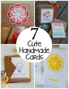 Sending a little note by mail always makes a person smile! And a handmade card cannot be beat. Here are just a few super cute DIY cards to send to those you love.