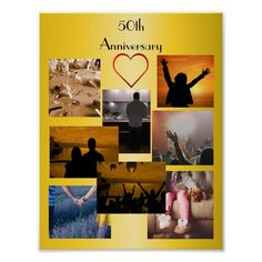 Shop Photo Collage For Anniversary Poster created by Personalize it with photos & text or purchase as is! Anniversary Photos, 50th Anniversary, More Photos, As You Like, Collage, Posters, Fun, Pictures, Birthday Photos