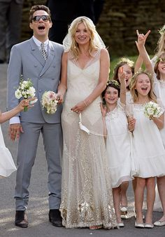 Still obsessed with Kate Moss' wedding dress.