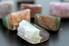 Such gorgeous druzy rings!