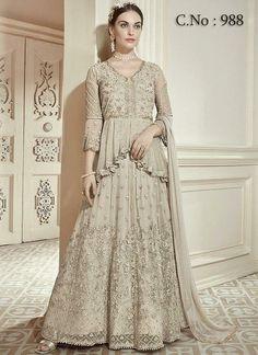 Salwar Suit Wedding Wear World & Traditional Net Designer Fancy Salwar Kameez SF