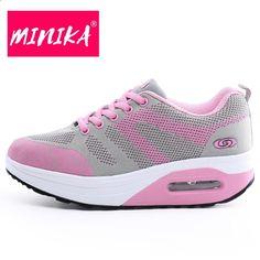 3db2e532085 MINIKA damesmode schoenen sneakers super ademend lace up platte schoenen  dames swing buitenzool comfortabele vrouwen casual