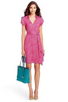 Jilda Two Silk Jersey Wrap Dress in in Petal Dreams Pink