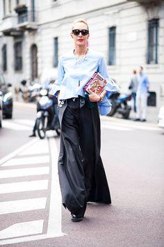 Что носят на Неделе моды в Милане: 1 часть (фото 2)