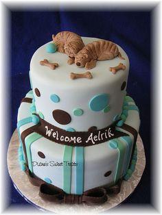 I like the dots Baby Shower Cake Decorations, Baby Shower Cakes, Baby Boy Shower, Shar Pei, Expecting Baby, Cupcake Cakes, Cupcakes, Cake Decorating, Sweet Treats