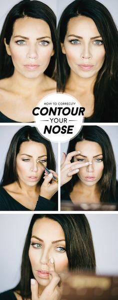 I thought it was time to update the nose contouring info as I've changed it up a bit! (in addition to the nose contouring this image is a good comparison of deer in headlights VS mirror face/zoolander