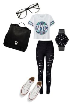 """""""School"""" by emma-martin123 on Polyvore featuring Aéropostale, Proenza Schouler, Converse, The Horse, women's clothing, women, female, woman, misses and juniors"""