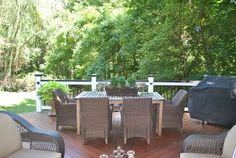 Relaxing covered porch and deck outdoor living combination designed and built by Archadeck of Central SC. Outdoor Spaces, Outdoor Living, Outdoor Decor, Decks, Outdoor Furniture Sets, Porch, Relax, Backyard, Building