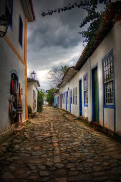 A beautiful little town in the state of Rio de Janeiro called Parati & Paraty (I saw both names in different plaques in the town)  It's a very coloful place oriented to turism, and during the high tide, the streets are filled with sea water.  @Softtek #photobook