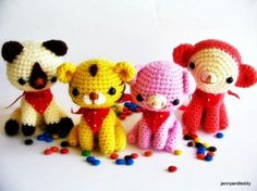 """Animal Friends Amigurumi Free crochet Pattern on Craftsy.com ( You will need to be registered with """"Craftsy"""" to open the files)"""