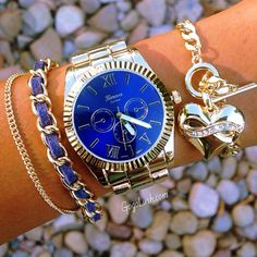 Wow yes!!! Want a bright cobalt blue face watch to pair with other chunky pieces.