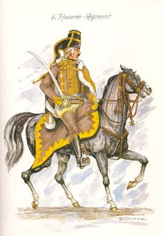 Prussia; 6th Hussar, Officer, c.1750 by G.Dorm