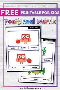 Positional Words Kindergarten, Kindergarten Activities, Writing Activities, Speech Activities, Free Printable Worksheets, Worksheets For Kids, Free Printables, First Grade Freebies, Expository Writing