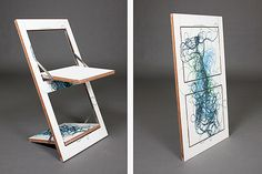Minimalist's Folding Chair Doubles as Wall Art - Improvised Life