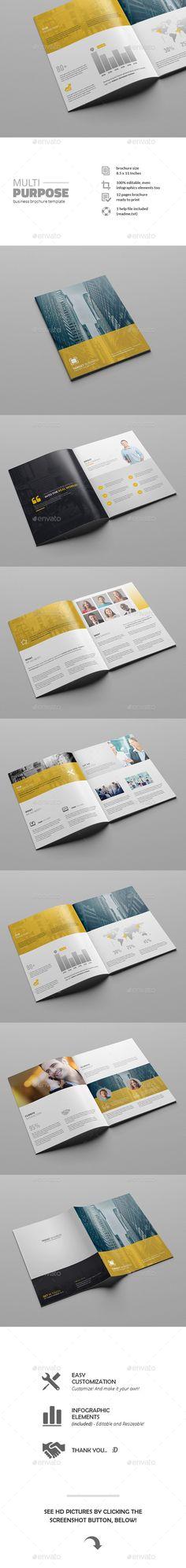 Multipurpose Business Brochure Template #design Download: http://graphicriver.net/item/multipurpose-business-brochure-template/11769942?ref=ksioks