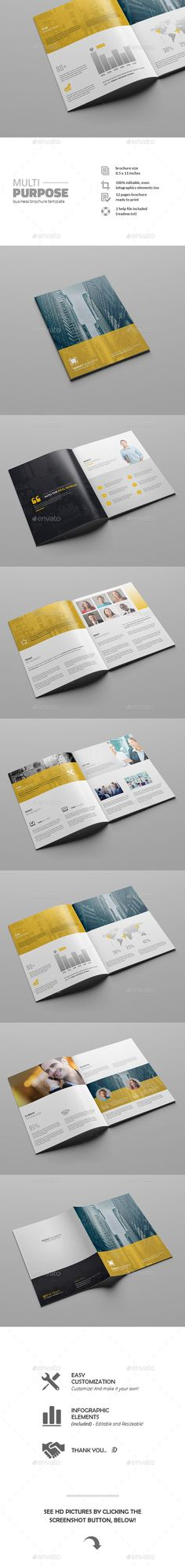 Multipurpose Business Brochure Template #design Download: http://graphicriver.net/item/multipurpose-business-brochure-template/11769942?ref=ksioks
