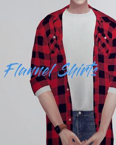 KK Long flannel shirts M • Clothes Top • Male (T-E) • My mesh / All morphs / All LODs • Custom thumbnails • 12 Color / 14 T-Shirts • Does not work with HQ mod • You can change t-shirts swatches at...