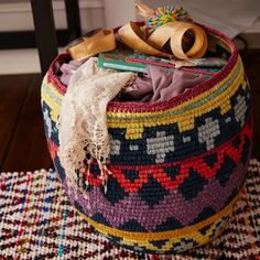 Nile Floor Basket | The Land of Nod