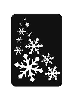 Snowflake Stencil-  Glitter Tattoo Stencil-  Craft Stencil-  Airbrush Stencil-  Box Crafts- Set of 6