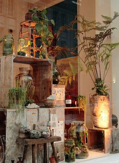 Hermetica Window Display for The Mill by Ken Marten, via Flickr