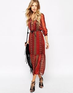 Mango Boho Midi Dress