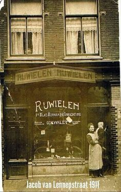 1911 rijwielhandel Jacob van lennepstraat Amsterdam