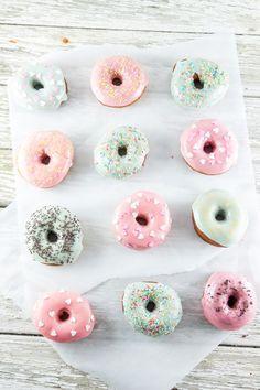 ... homemade vanilla donuts ...