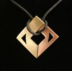This project is an introduction to abstract jewelry design, and to the technique of sweat soldering.