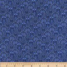 Timeless Treasusres Belize Scallop Paisley Blue from @fabricdotcom  Designed by Chong-A Hwang for Timeless Treasures, this cotton print is perfect for quilting, apparel and home decor accents.  Colors include shades of blue.