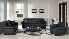 Floris Escudo Black Sofa Bed by Sunset