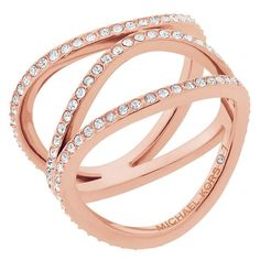 550e8f081 Michael Kors Rose Gold Tone Stone Set Ring Size N - Product number 6426166  Michael Kors