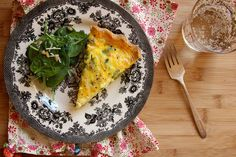 You've gotta make a pie crust, but this G-Free Asparagus Quiche might actually be worth it!