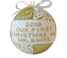 Mr. & Mrs. First Christmas 2016 Ornament Tree by CraftCrazy4U
