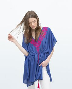EMBROIDERED SHORT KAFTAN-View all-Tops-WOMAN-SALE | ZARA United States