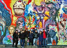 NYC artists Zimad, Sien, Sen2 & Fumero, along with high school students, fashion vibrant mural in Passaic, NJ