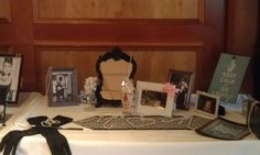 Breakfast at Tiffany's Themed Baby Shower. Shown sonogram photos as well as Movie referenced photos and props