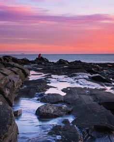 Gorgeous sunrise at Two Lights State Park in Maine