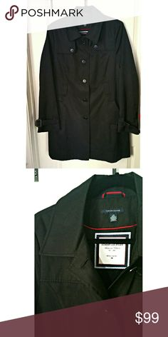 Classic Women's Trench Coat Tommy Hilfiger American Classic's trench coat.  Black,  used once.  In great condition! I lost weight and just doesn't fit anymore.  No belt,  I can't find it.  Offers welcomed through offer feature, Bundle and save! Tommy Hilfiger Jackets & Coats Trench Coats