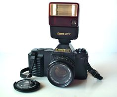 Vintage 1984 Olympic Canon T50 35mm with Lots of Extras by PoorLittleRobin, $75.00