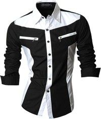 Cheap male shirt, Buy Quality shirt men casual directly from China shirt men Suppliers: 2018 Spring Autumn Features Shirts Men Casual Jeans Shirt New Arrival Long Sleeve Casual Slim Fit Male Shirts Mens Casual Jeans, Casual Shirts For Men, Men Casual, Classy Casual, Casual Street Style, Chemises Country, Chemise Fashion, Lässigen Jeans, Uniform Shirts