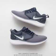 official photos bf5dc ea804  79.00 All Black Nike Trainers Womens,AA4080-004 Simple All-match  NIKELunarSolo Sport
