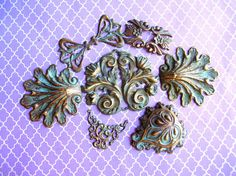 Art Nouveau Brass Stamping Lot by 2VintageGypsies on Etsy, $8.95