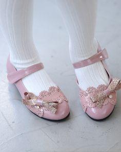 Ozkiz Girls Bena Lace Ribbon Mary Jane Flat Shoes