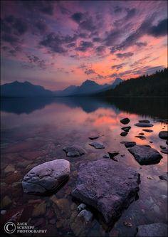 Lake McDonald sunrise (Glacier NP, Montana) by Zack Schnepf on 500px