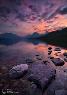 Lake McDonald sunrise (Glacier NP, Montana) by Zack Schnepf on 500px