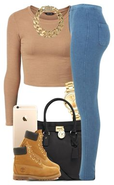 """""""Tan."""" by livelifefreelyy ❤ liked on Polyvore featuring Movado, MICHAEL Michael Kors, Miss Selfridge, Timberland and AllSaints Click VISIT link for more"""