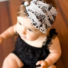 I want for gia!!!!! Baby Toddler Girl Feather Headbands