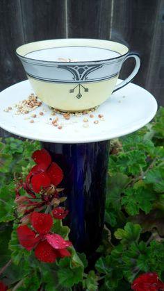 Kaleidoscope of Colors: DIY 10 Minute Teacup Bird Feeder amandawickcunning.com